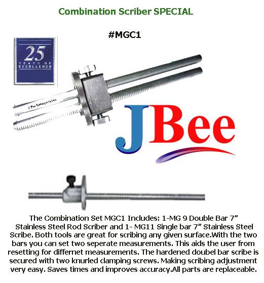 Scriber #MGC1 Combination Set Engraved Stainless steel bar 1- #MG9 & 1- #MG11