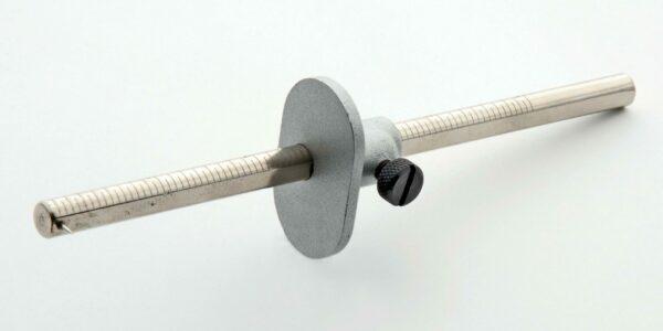 """Scriber / Marking Gauge 6"""" Engraved plated steel Bars #MGA"""